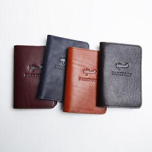 huge discount dd495 c3d30 Details about LANSPACE men's genuine leather passport case brand handmade  passport cover