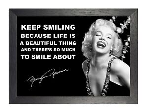 MARILYN MONROE INSPIRATIONAL MOTIVATIONAL QUOTE POSTER PRINT PICTURE 2