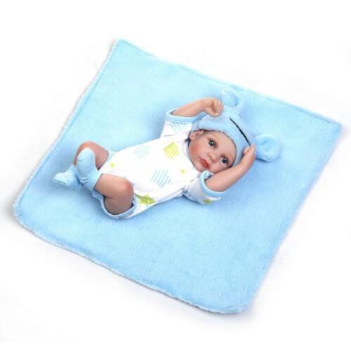 "10/"" Handmade Preemie Reborn Full Body Vinyl Boy Doll Lifelike Cute Baby Gifts"