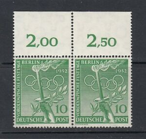 Luxus-Berlin-Mi-Nr-89-Paar-Oberrand-postfrisch