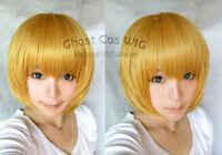 Attack on Titan Armin Arlert Short Dark Blonde Cosplay hair Wigs,+ free wig cap