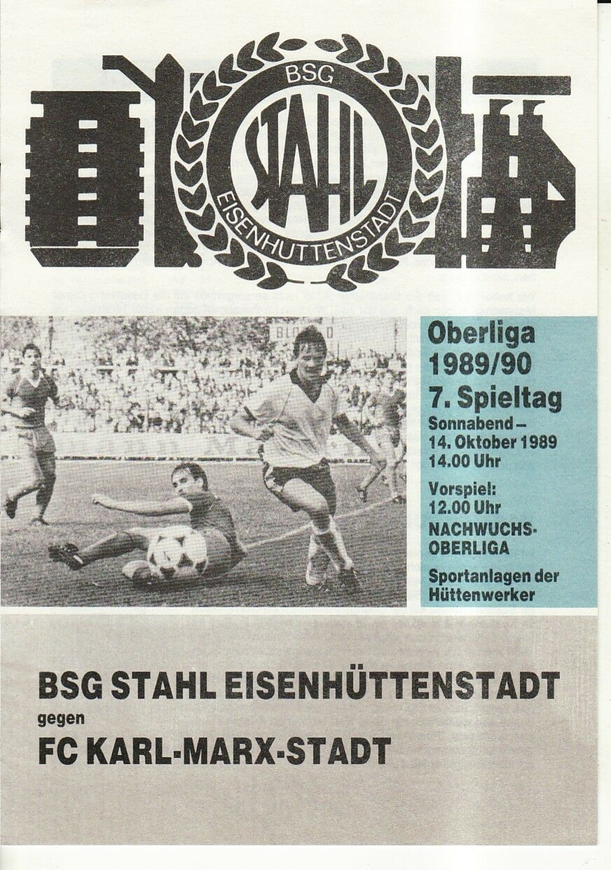 OL 89/90 Acier FC Eisenhüttenstadt - FC Acier Karl-Marx-Stadt 258dcd