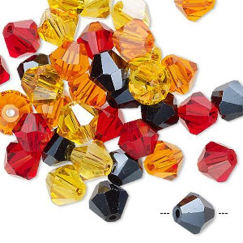 2444 verre Bobine biconique perles 8 mm PK40 Firestorm UK boutique  *