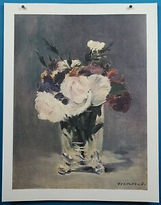 "Edouard Manet ""Flowers in a Crystal Vase"" Print French Impressionist Masterpiece"