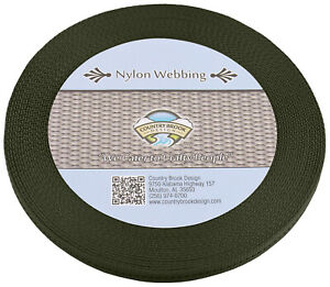 Country Brook® 1//2in Olive Drab Green Military Spec Tubular Nylon Webbing,100Yds
