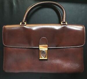 Pristine Italian 1980s SAKS FIFTH AVENUE  Leather Bag Satchel Handbag Purse