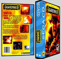 Fahrenheit - Sega Cd Reproduction Art Dvd Case No Game