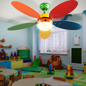 Stupendous Details About Ceiling Fan Childrens Room Fan Colorful 3 Stages Cooler Pull Switch Light New Download Free Architecture Designs Ferenbritishbridgeorg