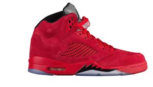 Nike air jordan retrò / 5 rosso rosso rosso suede136027-602   w / ricezione bb2c2a