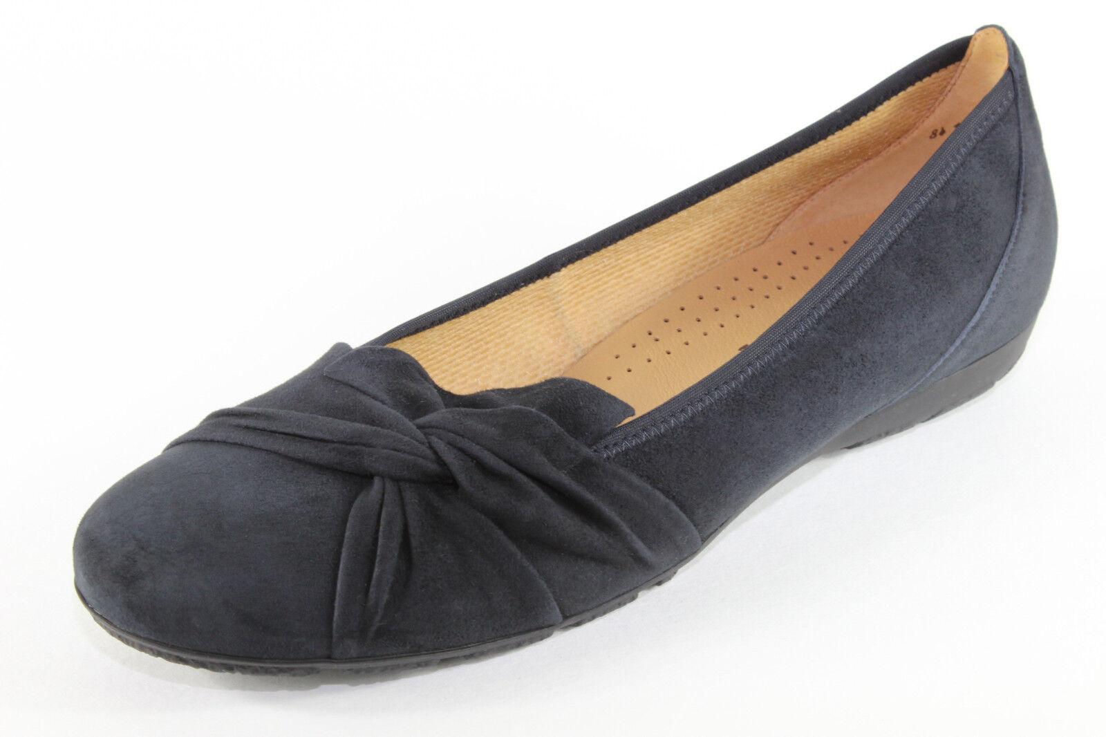 Gabor 84.150.16, komfortable Ballerinas, dunkelblau, Damenschuhe Übergröße
