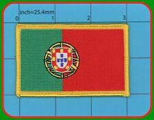 Portugal Flag Iron on Patch República Portuguesa QUALITY EMBROIDERY 3x2 inches