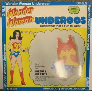 Vintage-1980-Wonder-Woman-Underoos-SEALED-New-In-Package-RARE-Small-4-6X