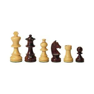 Pièces d'échecs - bois de rose et buis King hauteur 95 mm