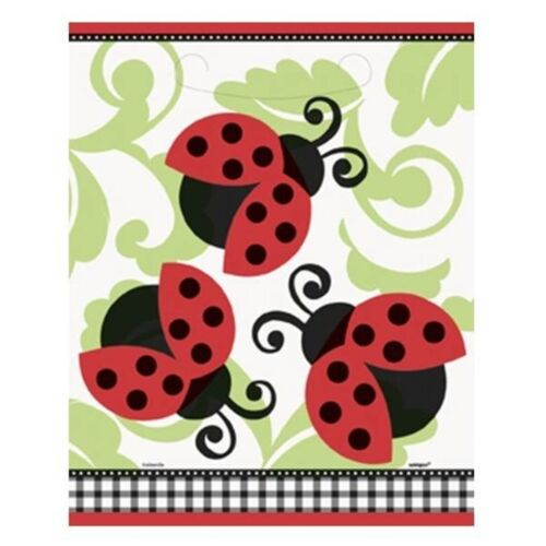 Lively Ladybug Birthday  Party Supplies Treat Bags