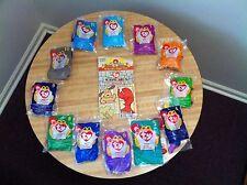 NIP All 12 1998 McDonalds Happy Meal TY Teenie Beanie Babies Complete Set w/ Bag