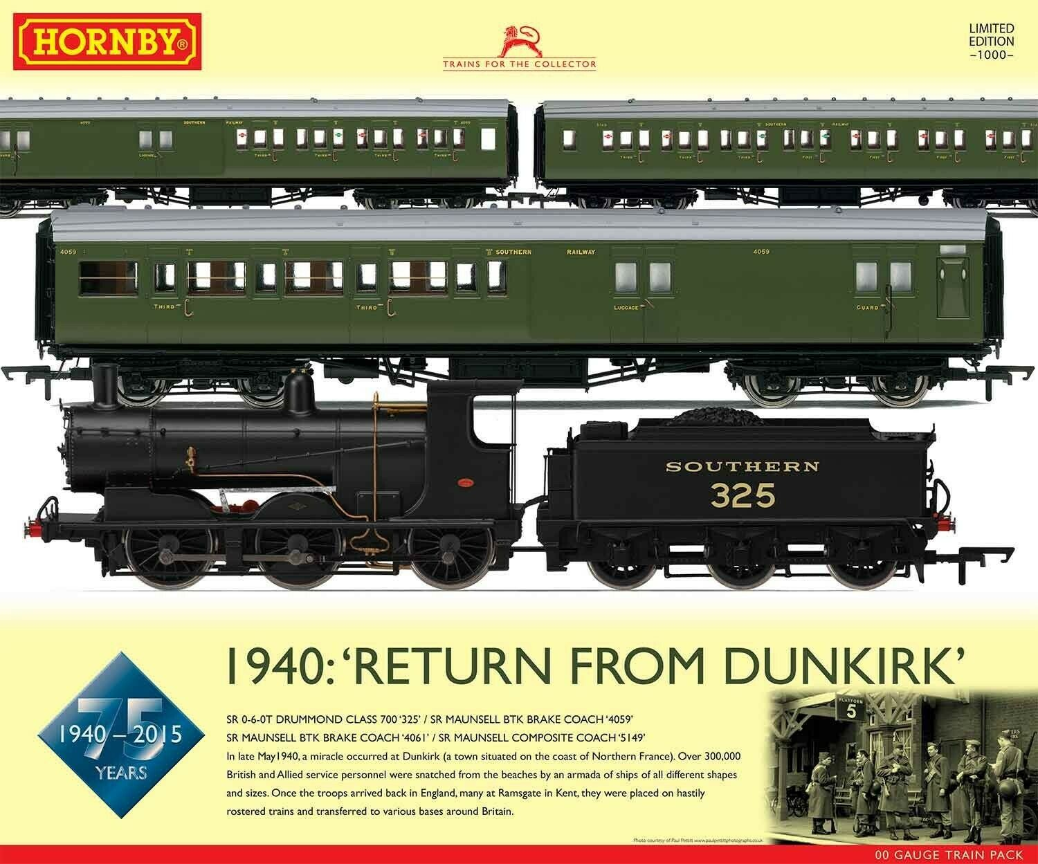 Hornby R3302 '1940  Return from Dunkirk' 75th Anni Train Pack classe 060 325