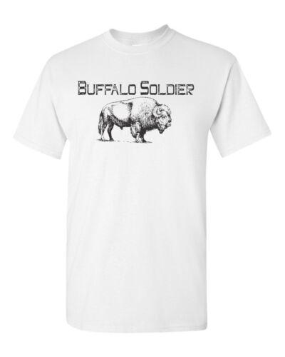 Buffalo Soldier American Indian Native Men/'s Tee Shirt 1808
