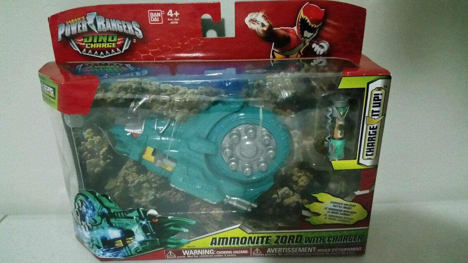 Ultra RARE Teal Ammonite Zord - Dino Charge - NEW - Power Rangers - Last one