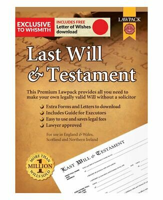 Lawpack Last Will /& Testament ENGLAND WALES AND NORTHERN IRELAND