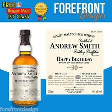 Personalised Scotch Whiskey/Whisky Bottle Label, Perfect Birthday/Wedding Gift
