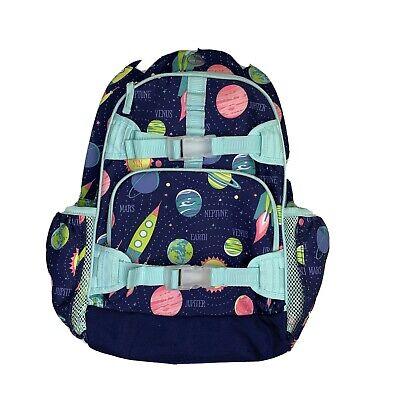 Pottery Barn Kids Girl Aqua Solar System Backpack Outer