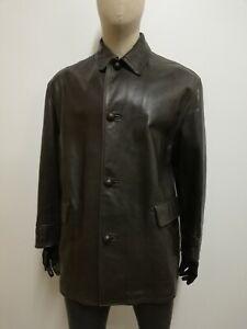 RUFFO-Cappotto-in-PELLE-e-LANA-D-039-AGNELLO-Giubbotto-Jacket-Coat-Giacca-Tg-52-Uomo
