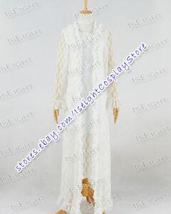 The Phantom Of Opera Christine Daae Fancy White Lace Dress Costume Halloween