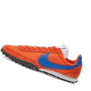 NIKE-MENS-Shoes-Waffle-Racer-Orange-Royal-Rust-amp-Black-CN8116-800