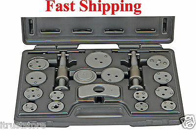 New 18 PC Disc Brake Pad and Caliper Service Tool Kit GM CHEVY FORD HONDA TOYOTA