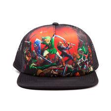 Official Licensed Legend Zelda Ocarina Of Time Multi Character Trucker Cap Hat