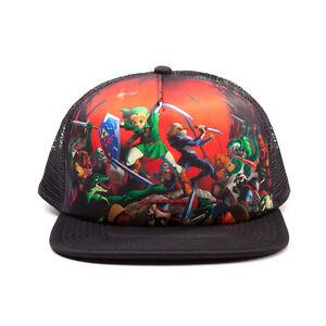 Official-Licensed-Legend-Zelda-Ocarina-Of-Time-Multi-Character-Trucker-Cap-Hat