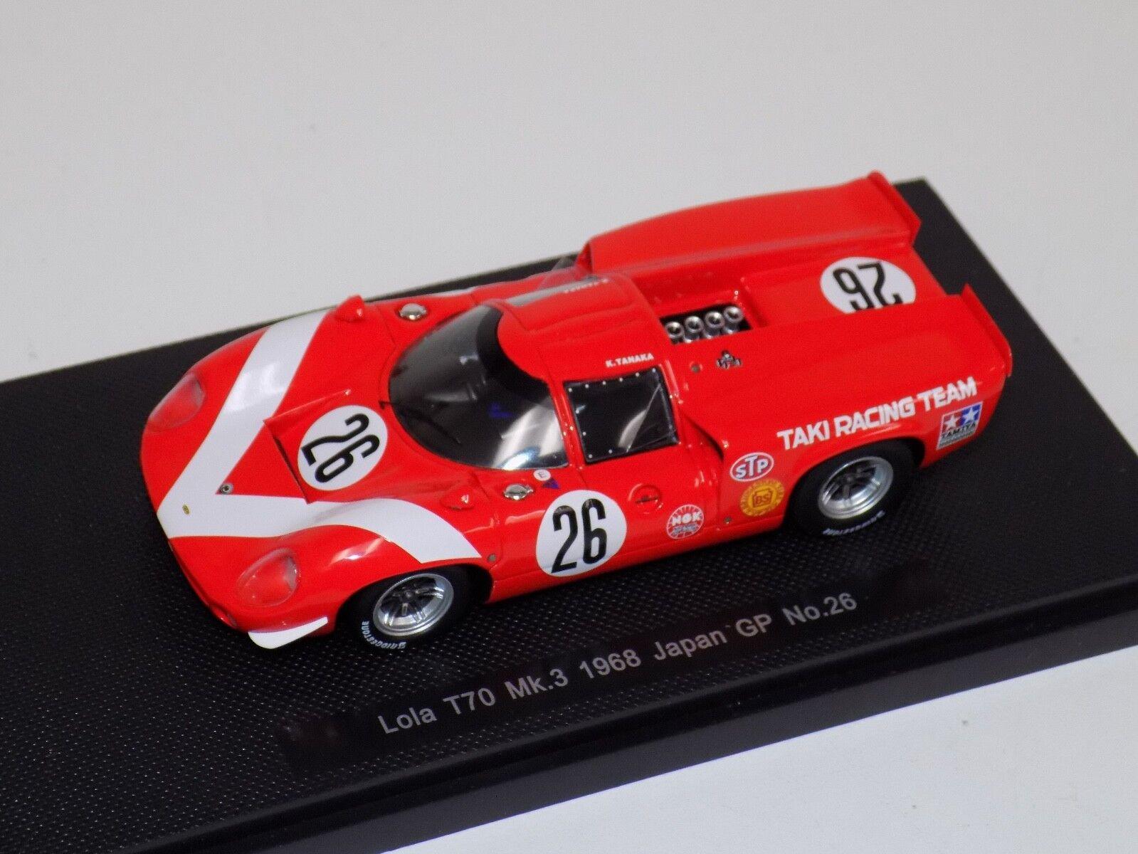cómodamente 1 43 Ebbro Lola T70 T70 T70 MK3 Japón GP 1968 coche  26  44245  100% autentico