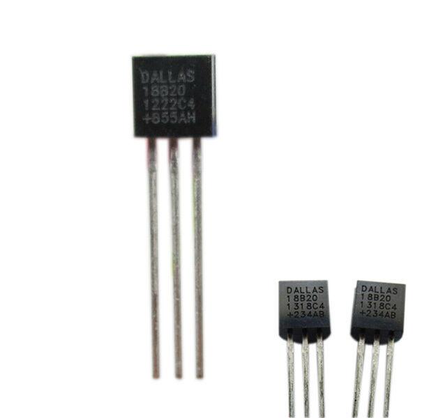 10 Stk DALLAS 18B20 DS18B20 TO92 +/-0,5°C Profi Thermometer Temperatur Sensor