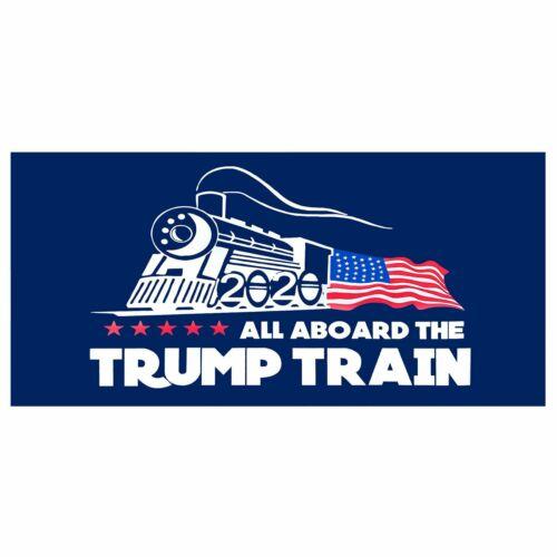 All Aboard the Trump Train 2020 President Election MAGA Decal Bumper Sticker