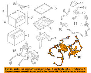 Details about NISSAN OEM 09-10 Murano 3.5L-V6 Battery-Engine Wiring on