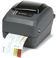 Zebra Gx430t Thermal Usb Ethernet Serial Pos Label Printer (gx43-102410-000)