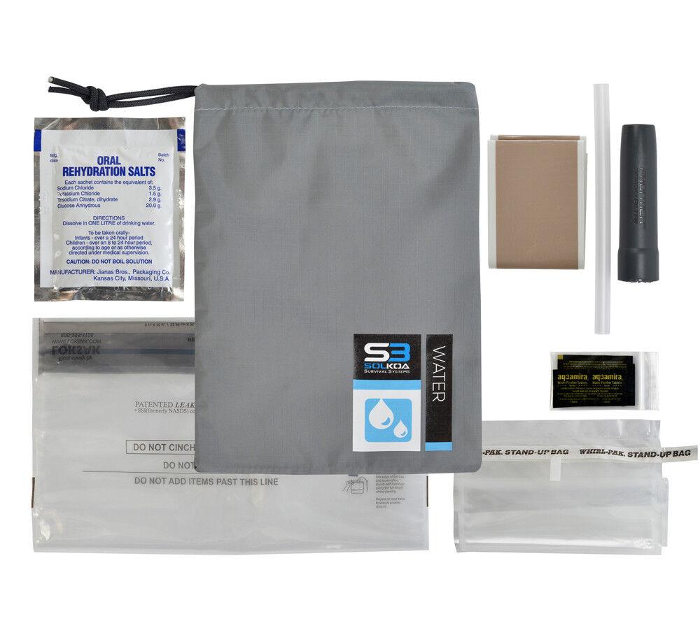 Survival Kit Water Treatuominit Module Solkoa Pro Purification Filter e Storage