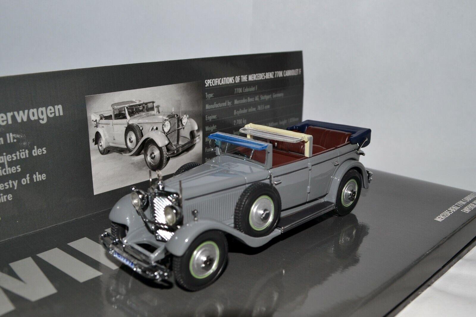 Mercedes-Benz 770K Cabrio F Keiser Wilhelm II car 1931 1 43 Minichamps 436036000