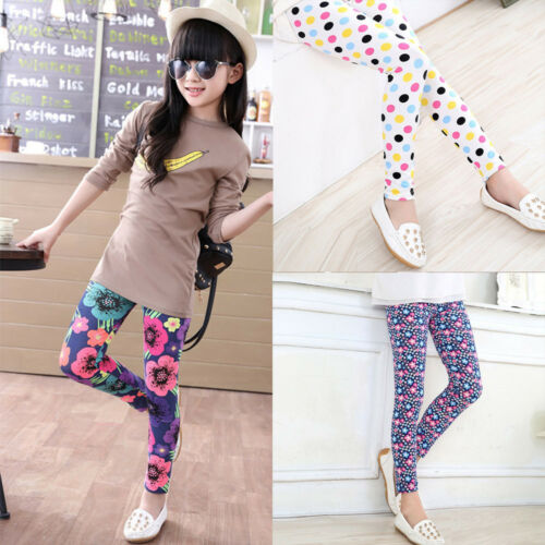 Children Kids Toddler Baby Girls Bodycon Trousers Leggings Stretchy Pencil Pants