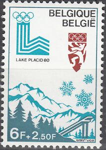 Belgique-Belgien-Nr-1965-Olympia-1980-Lac-Placid