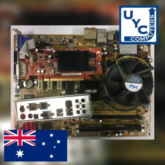 Working Asus P5LD2 Motherboard Intel Pentium 4 3.2Ghz CPU A260C2 GPU 512 MB RAM