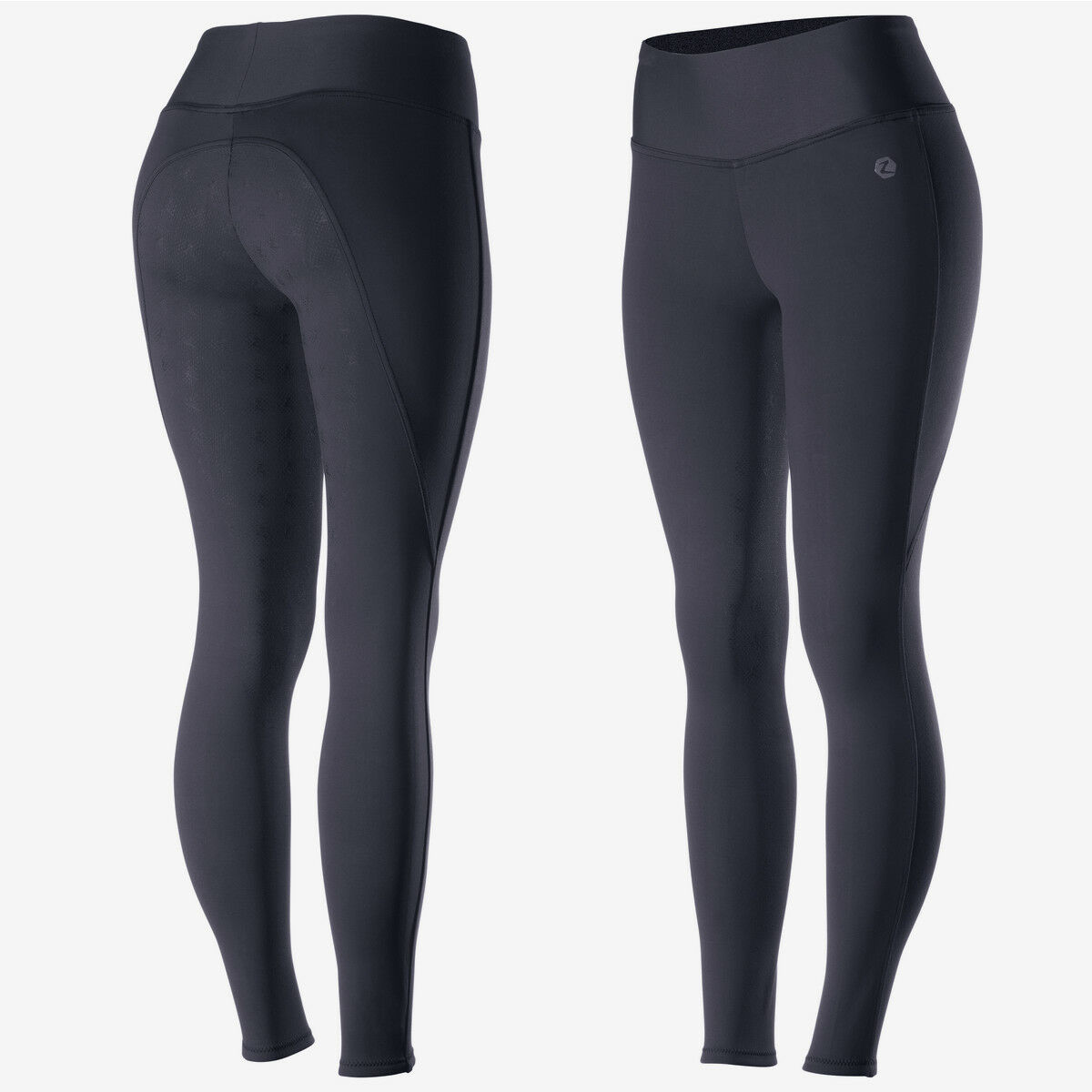HORZE Juliet Womens  Hyper Flex Riding Tights with Silicone Full Seat - Dark bluee  limited edition