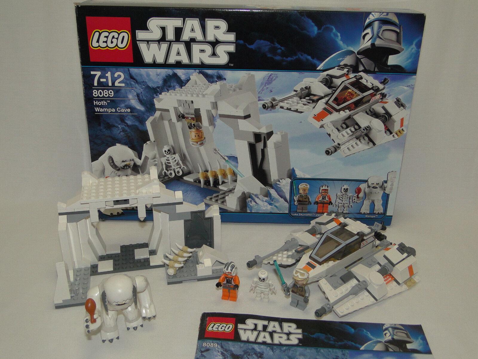 Lego Star Wars 8089 Hoth Wampa Cave komplett mit OBA + OVP