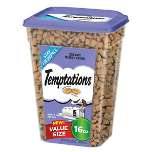 TEMPTATIONS Classic Cat Treats Creamy Dairy Flavor VALUE SIZE 16 oz