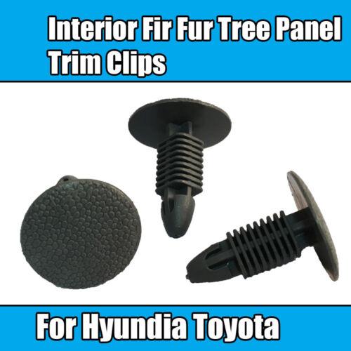 10x Clips para hyundia Toyota Interior panel de árbol de abeto Piel Adorno Gris 85325-21000QS