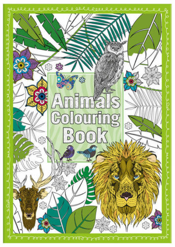 A4 ADULT COLOURING BOOK ANIMALS STOCKING FILLER GIFT