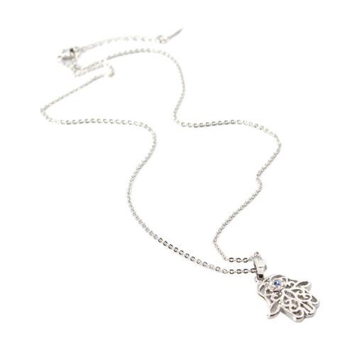 Halskette mit Strass Hand Anhänger