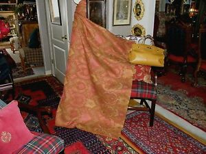 Stunning Very High End Olive Red Gold Texture Upholstery