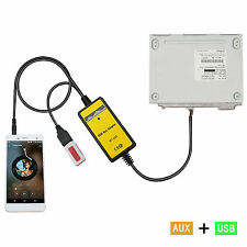 Car USB 3.5mm Mp3 Player Interface AUX In Adapter For Camry Corolla 6+6 Model
