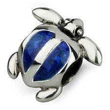 Turtle honu Autentico Solid Sterling Silver Charm OHM Bead ahv007